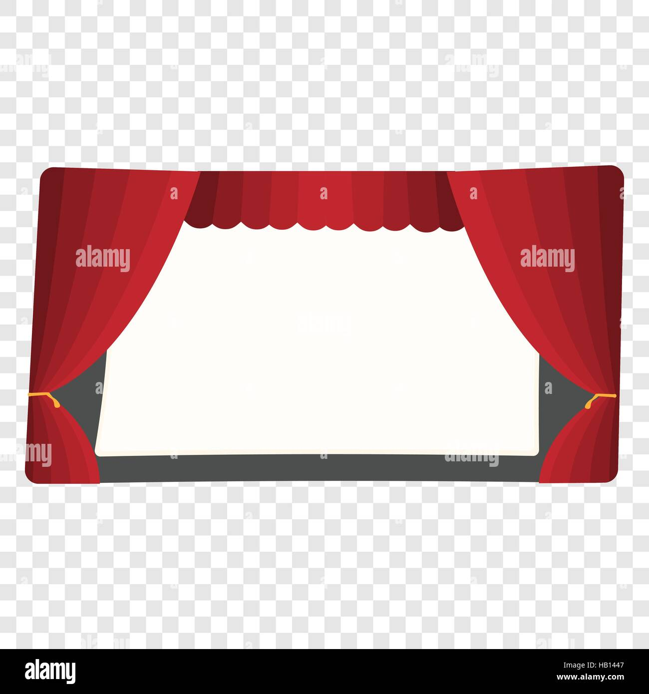 Cartoon theater stage - Stock Vector