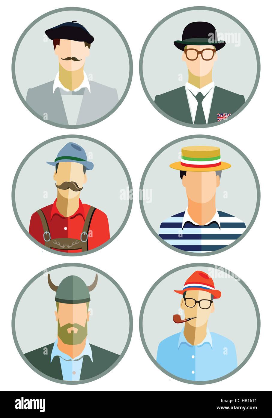 European Men - Stock Image