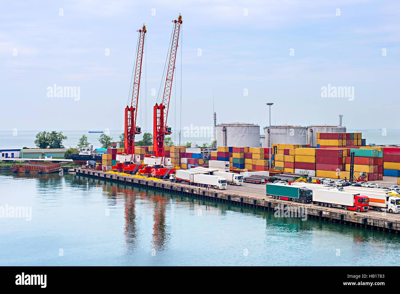 Batumi sea port, Georgia - Stock Image
