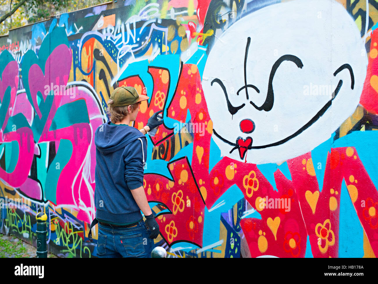 Teenager Graffiti Painter