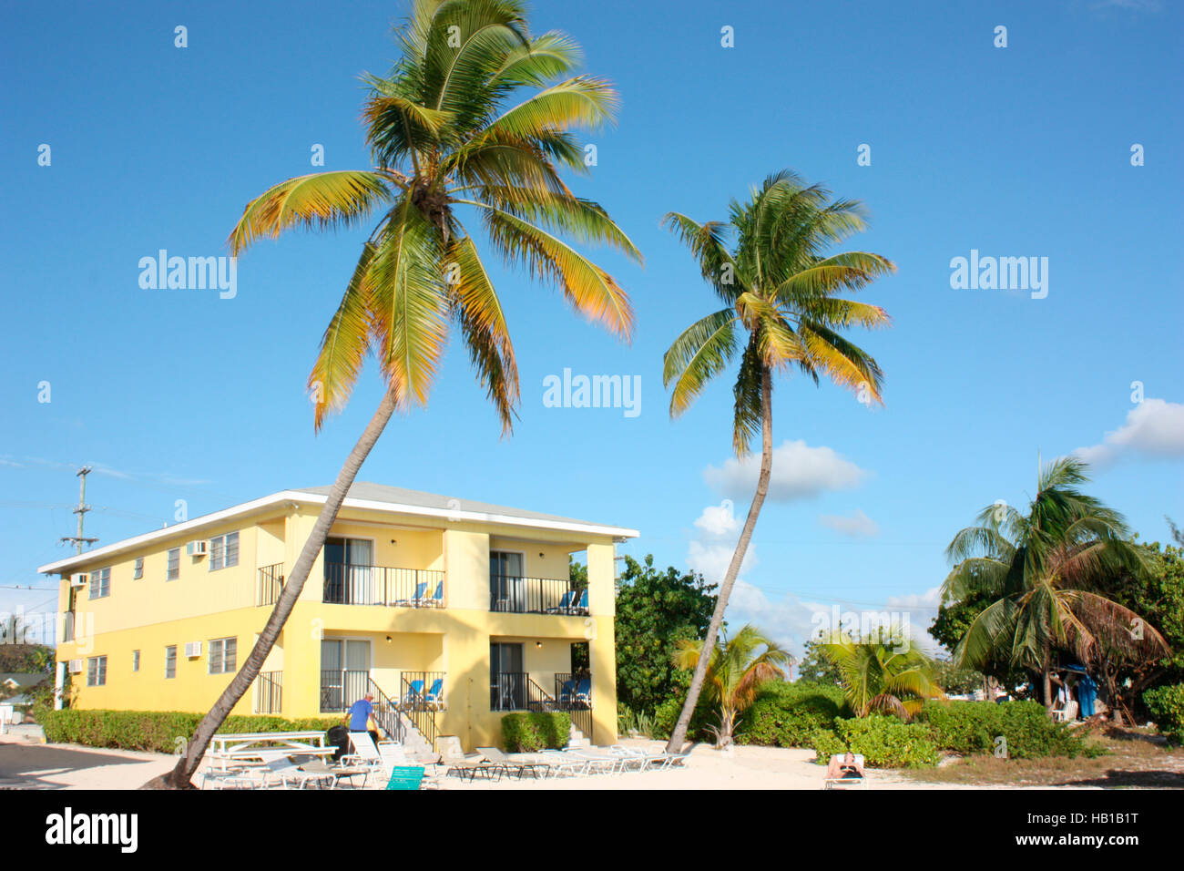 A guesthouse on 7-mile beach, Georgetown, Grand Cayman - Stock Image