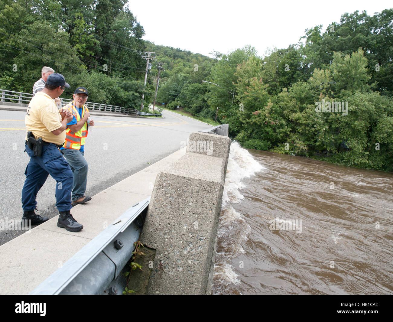 Flooding Hurricane Irene - Stock Image