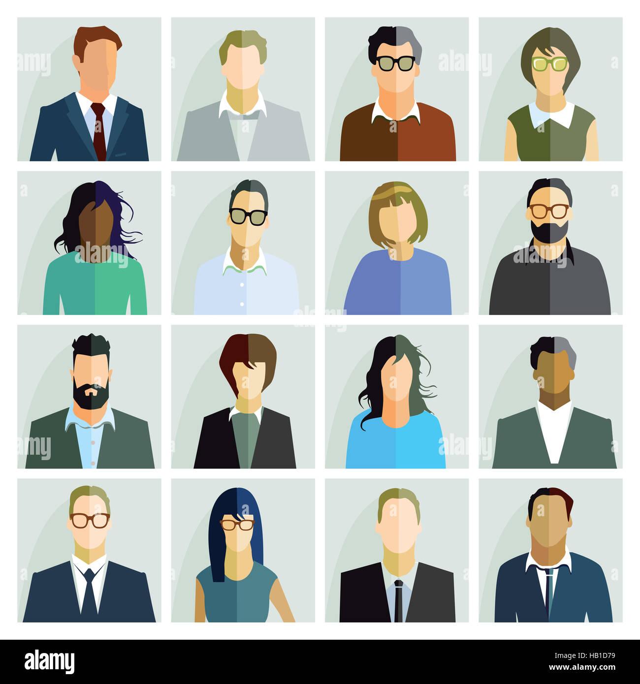 People Portrait - Stock Image