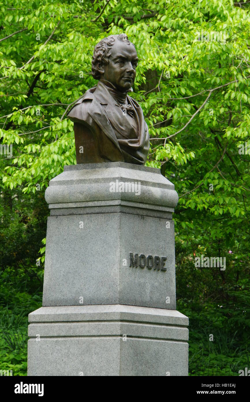 Thomas Moore Monument in Central-Park - Stock Image
