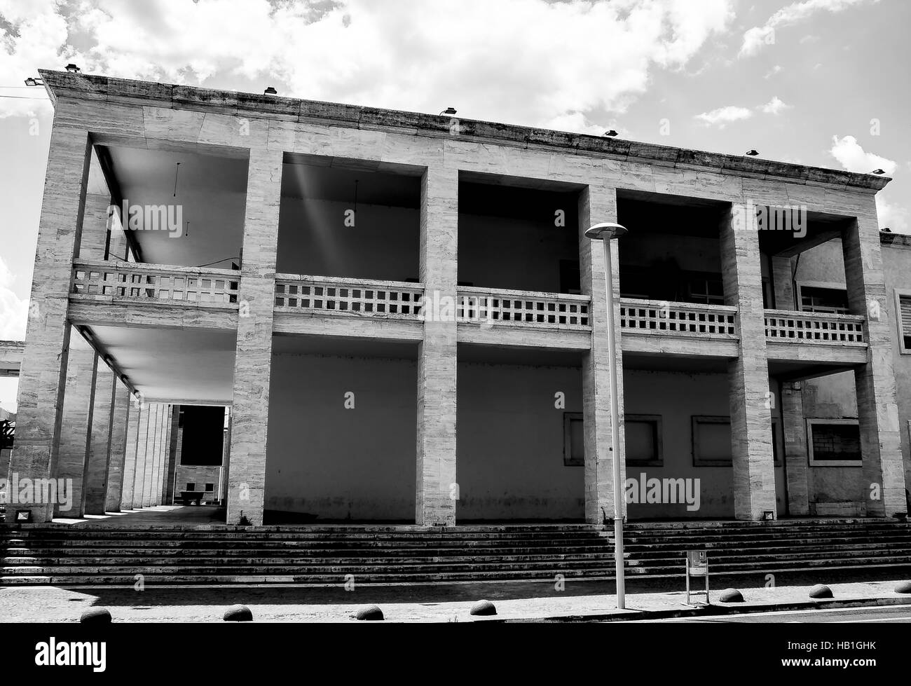 Italian architecture in Tirana - Stock Image