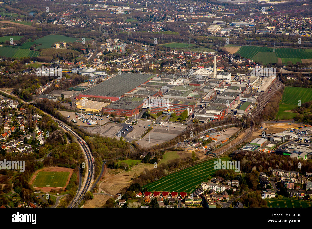 ex Car Manufacture of Bochum Stock Photo