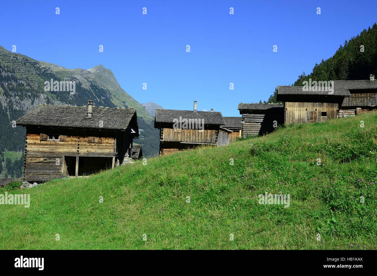 alps, hut, Austria, - Stock Image