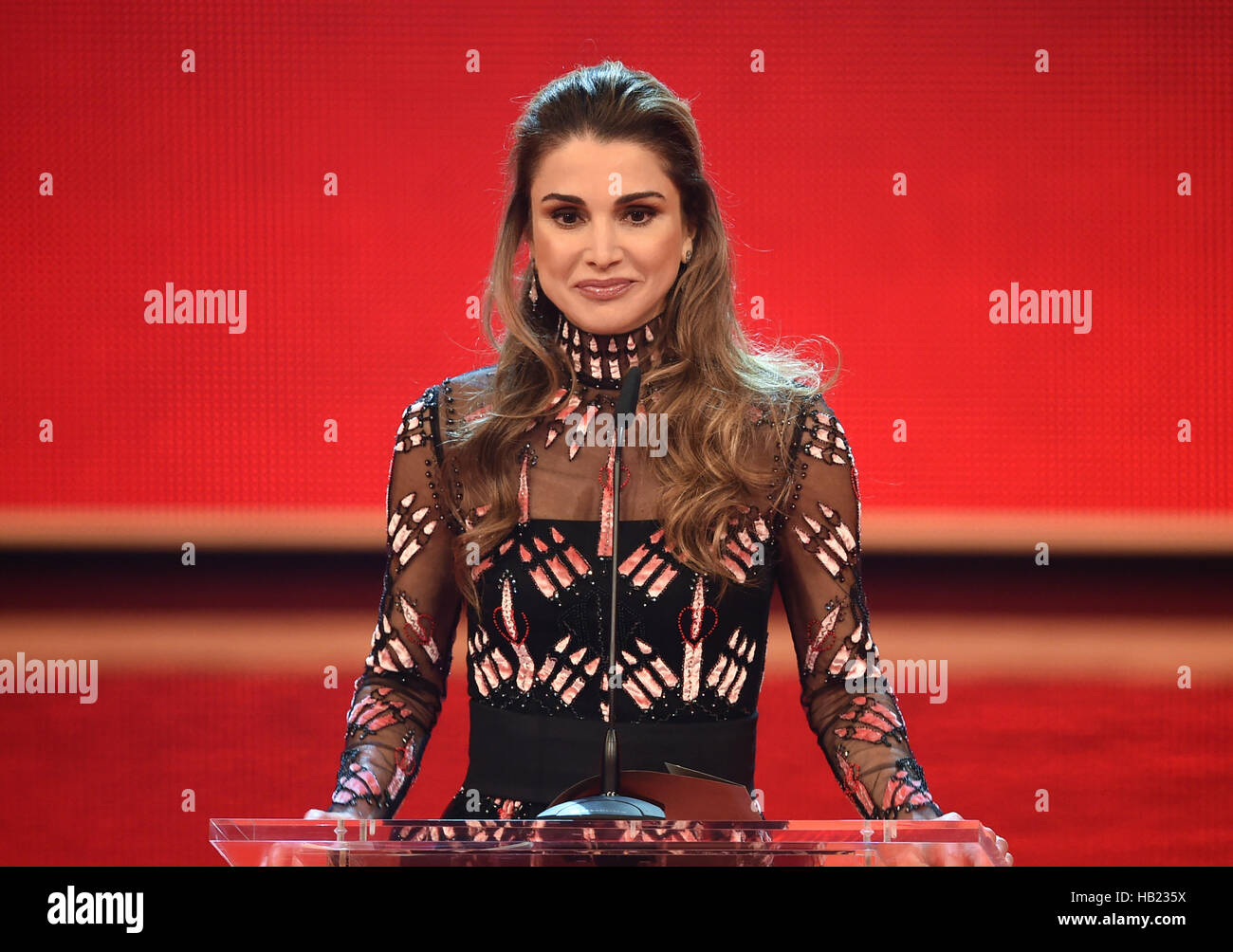 Berlin Germany 3rd Dec 2016 Queen Rania Al Abdullaha Of Jordan Stock Photo Alamy