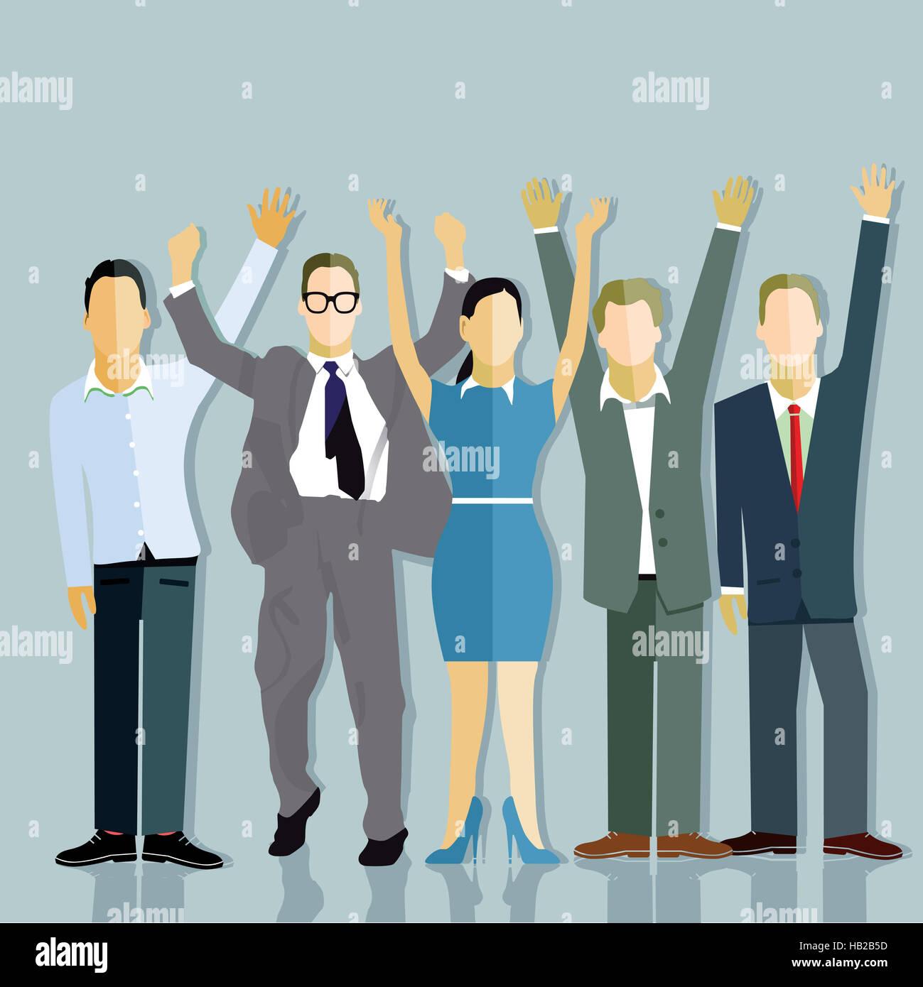 Successful companies balance - Stock Image