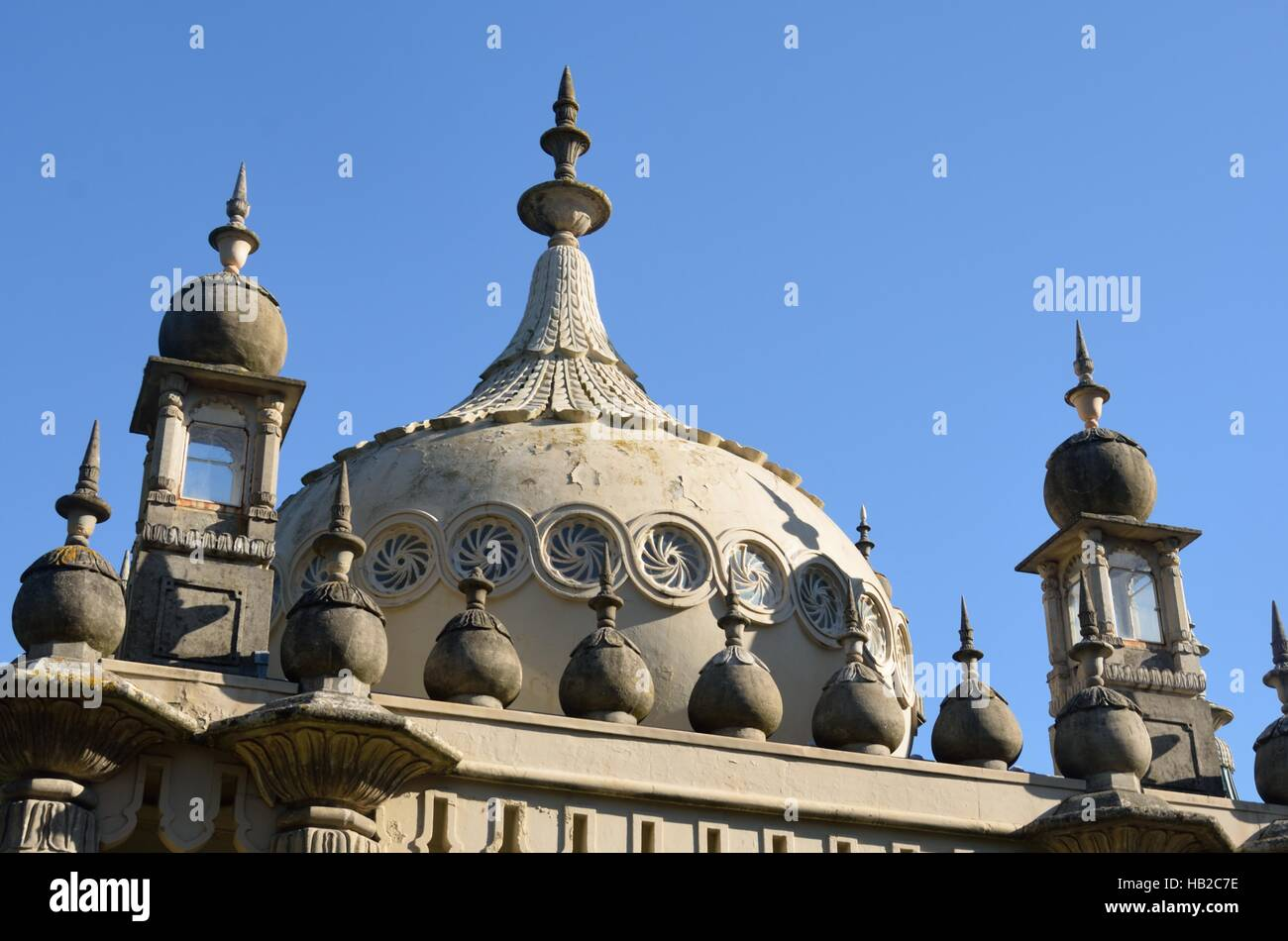 Roof top Brighton Pavillion - Stock Image