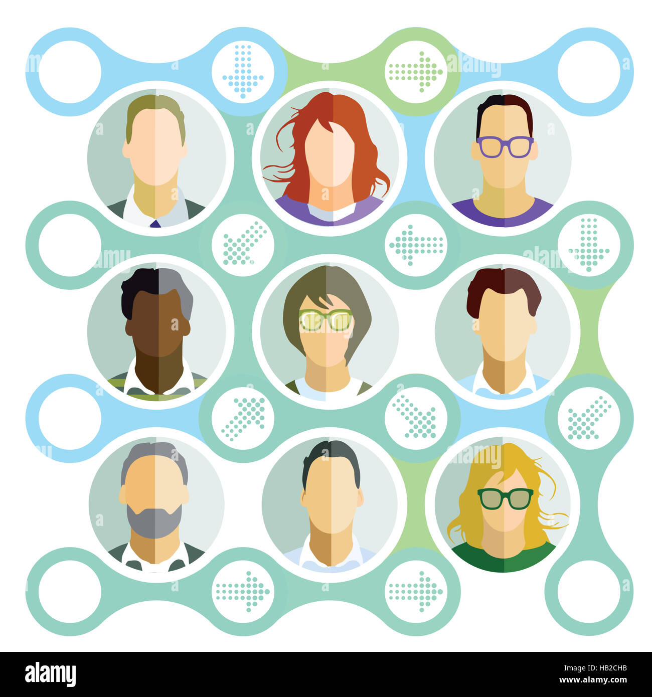 Team contacts - Stock Image
