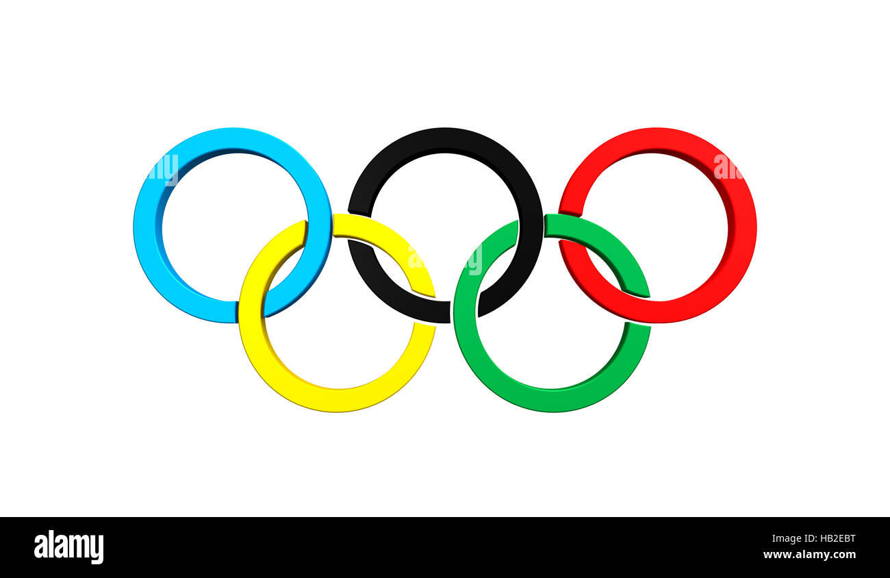 Olympic rings - Stock Image