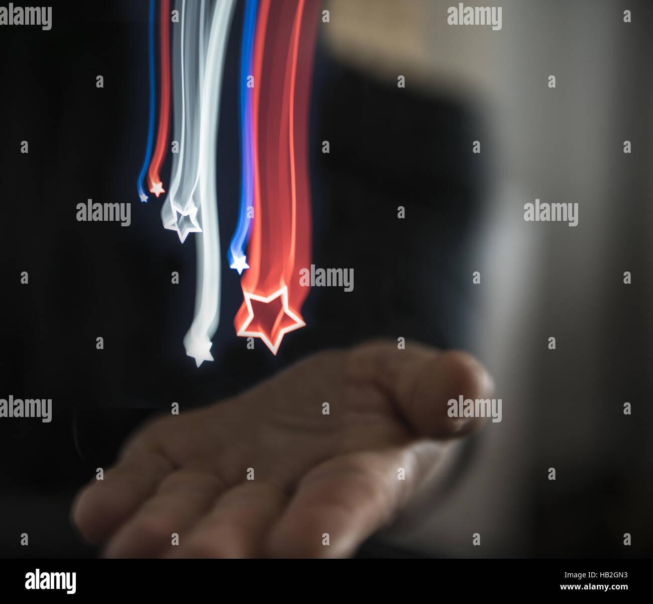 Falling Stars - Stock Image