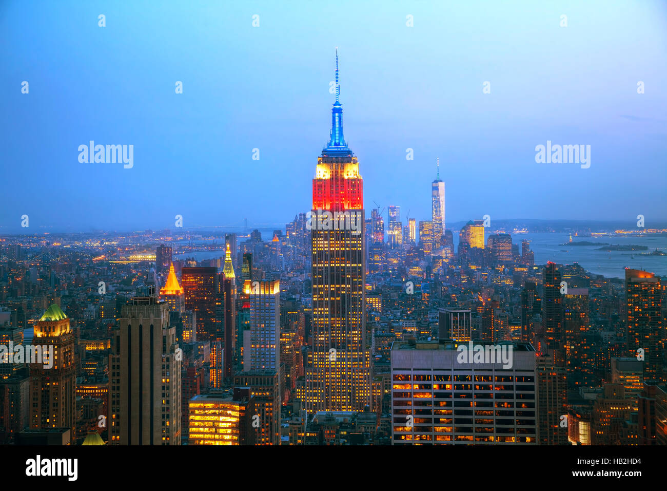 New York City aerial overview - Stock Image