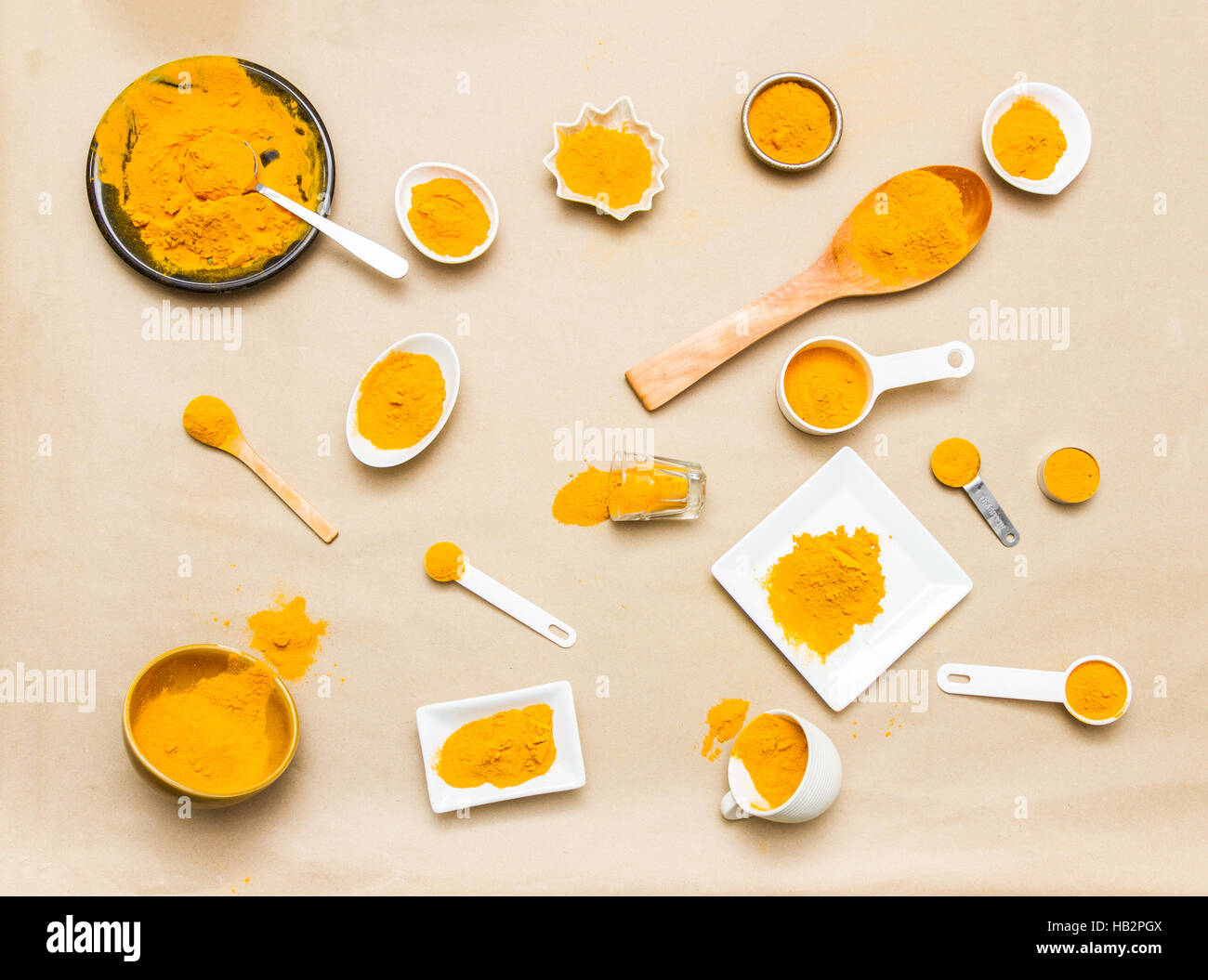 Turmeric spices. Stock Photo