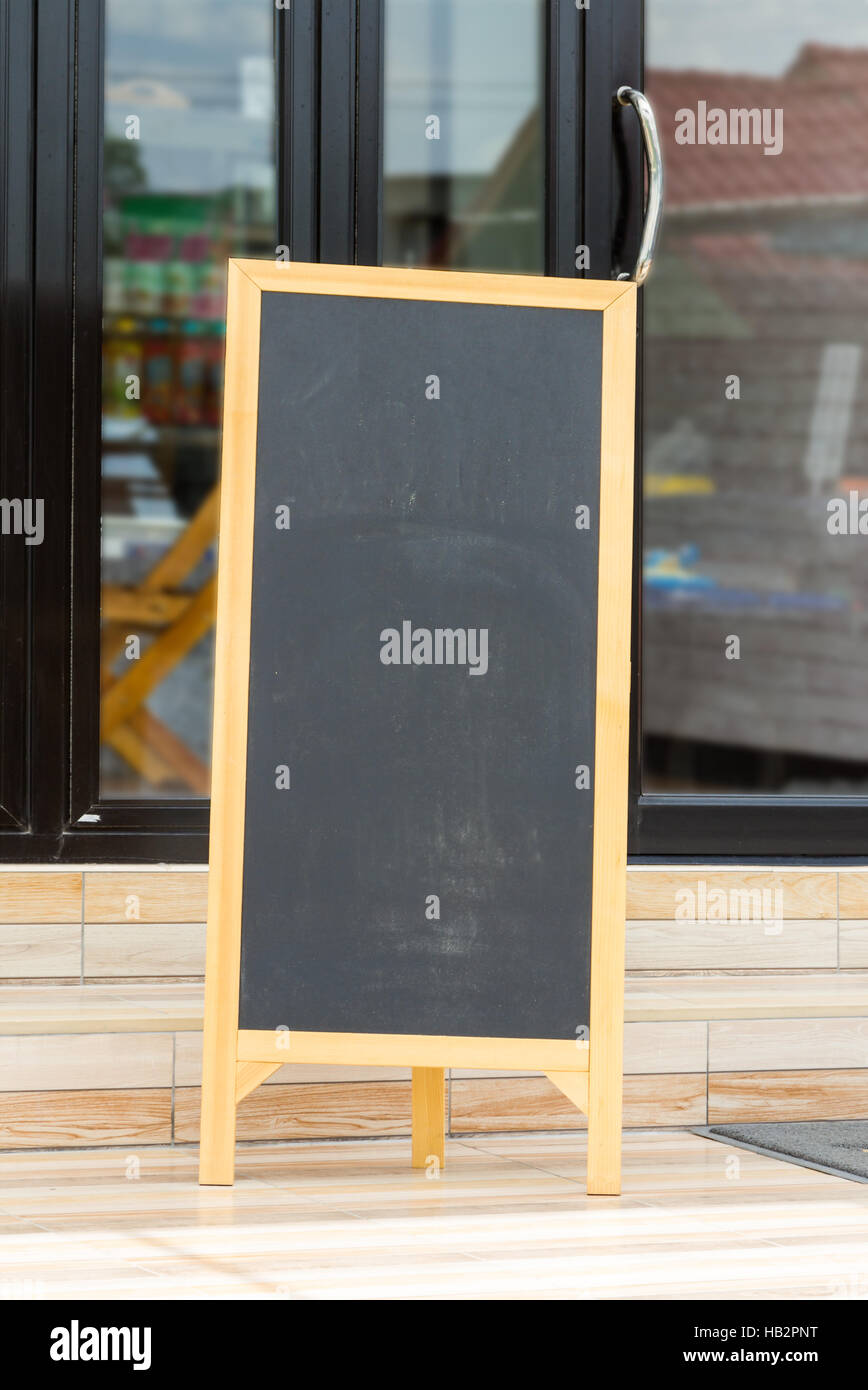 Blackboard for communication and advertise. - Stock Image