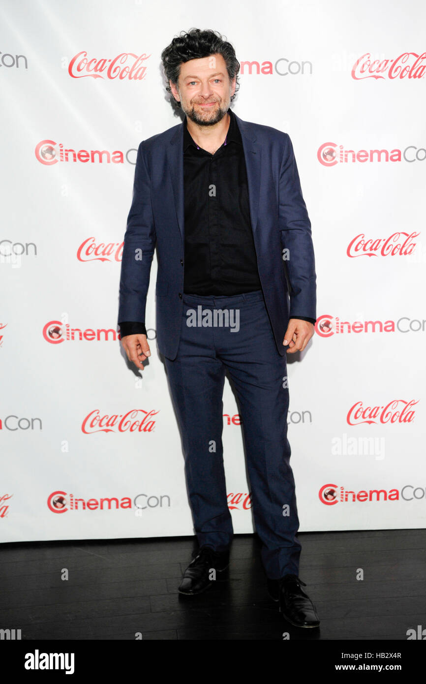 CinemaCon Vanguard Award winner Andy Serkis attends The CinemaCon Big Screen Achievement Awards brought to you by - Stock Image