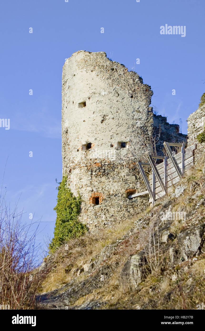 Ruined castle Mägdeberg in hegau - Stock Image