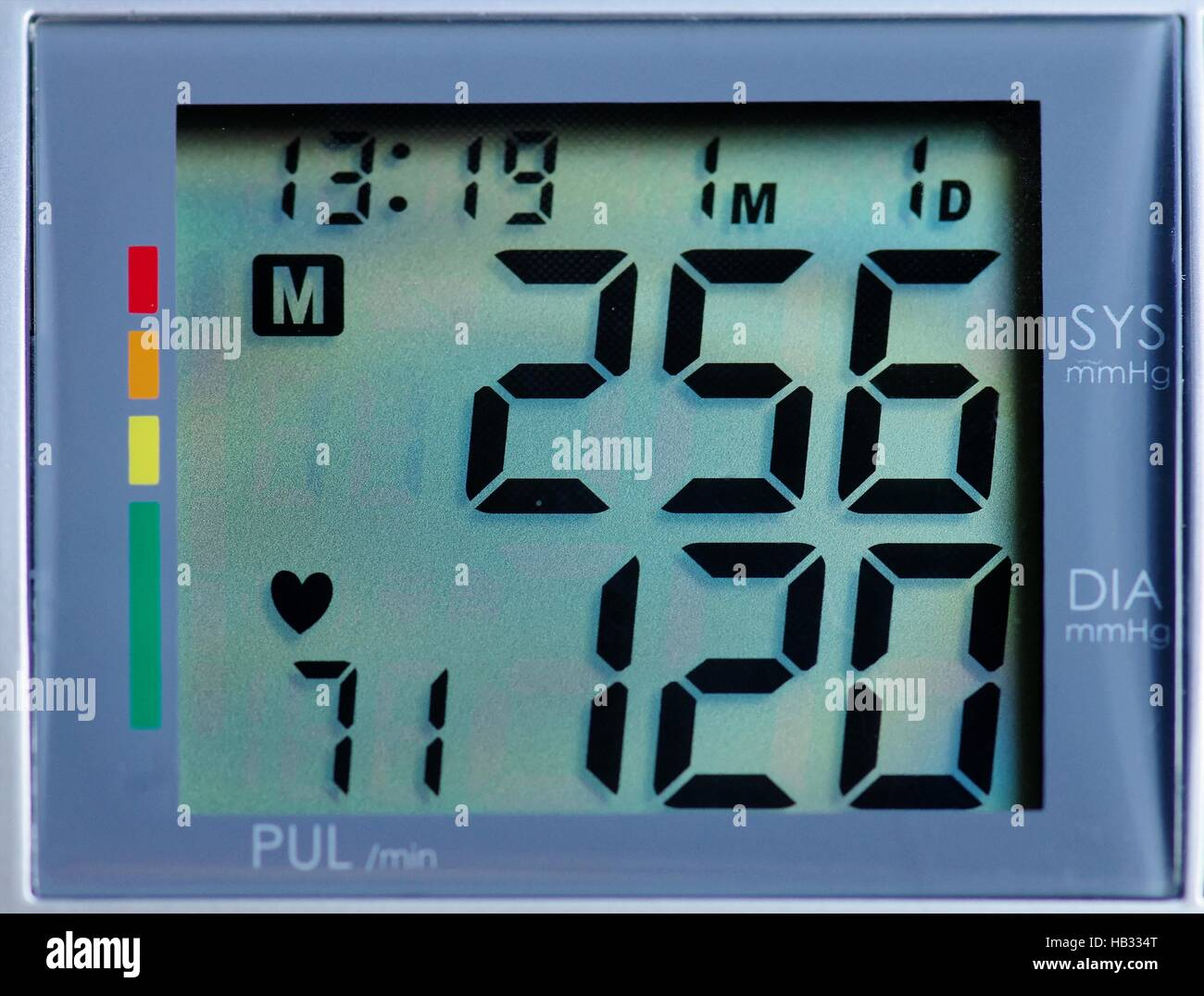 blood pressure meter - Stock Image