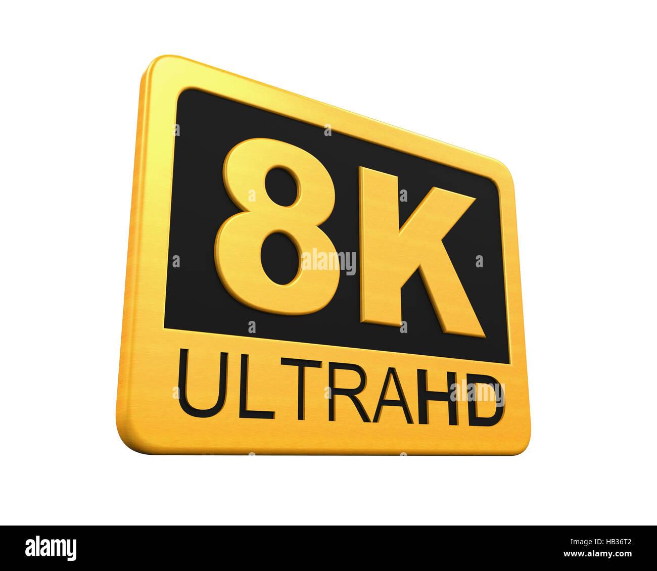 Ultra HD 8K Icon - Stock Image