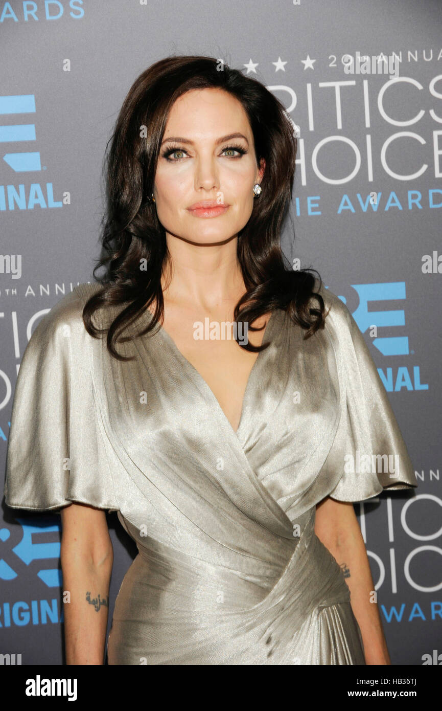 Actress Angelina Jolie attends the 20th Critics' Choice Movie Awards at the Hollywood Palladium on January 15, - Stock Image