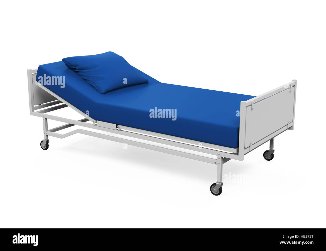 Hospital Bed Isolated - Stock Image