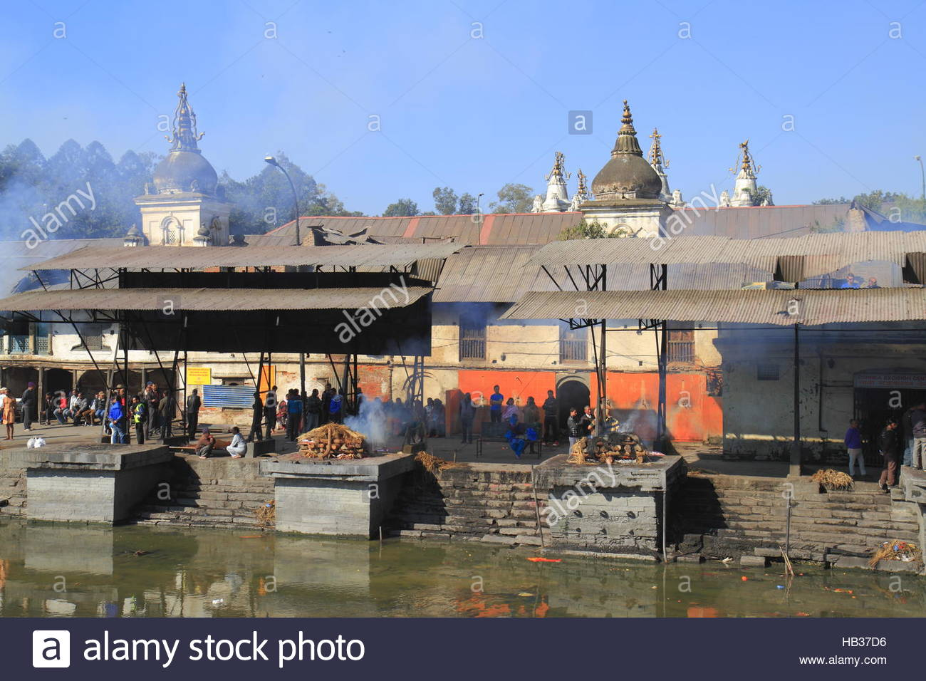 The Pashupatinath Temple - Stock Image