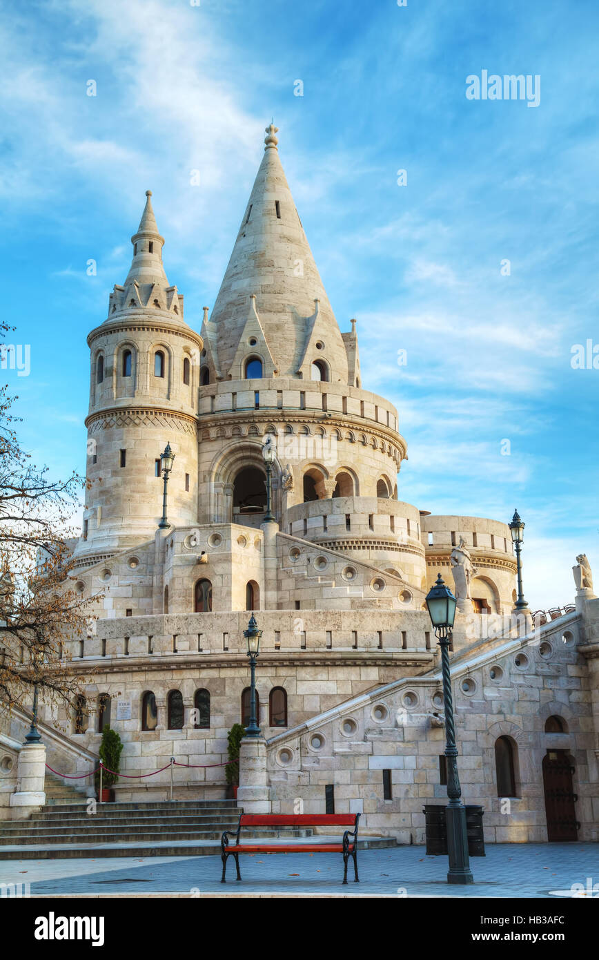 Fisherman bastion in Budapest, Hungary - Stock Image