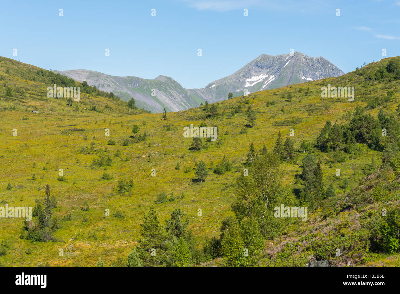 Mountain Landscape, Volda (Norway) - Stock Image