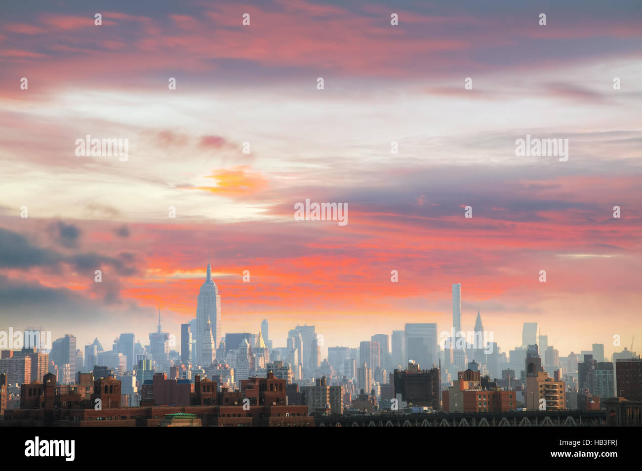 New York City cityscape - Stock Image