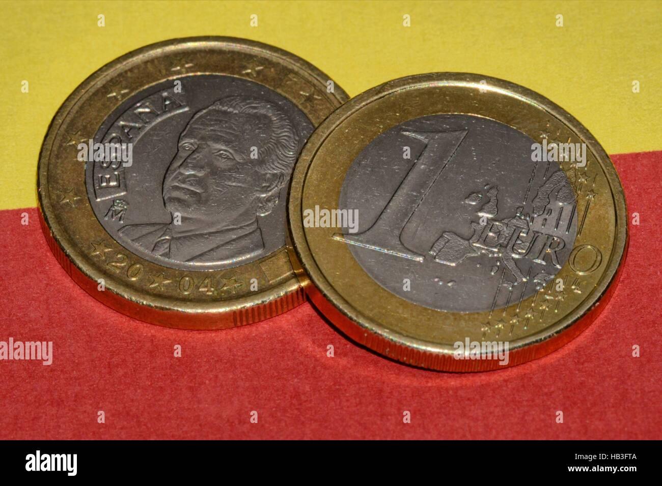 Spanisch Euro Stock Photo