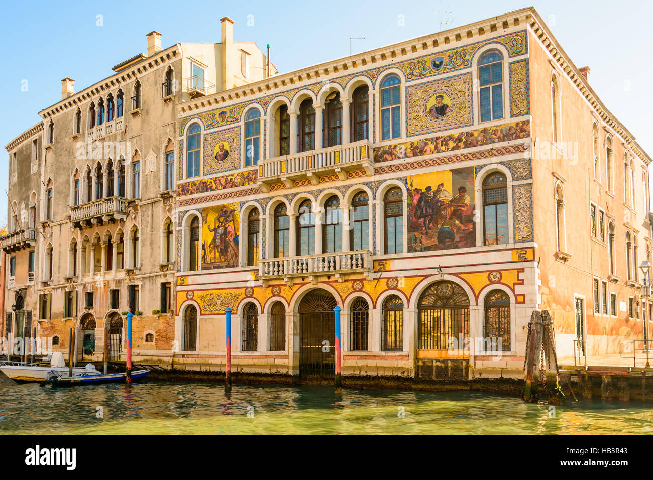 Palazzo in Venedig - Stock Image