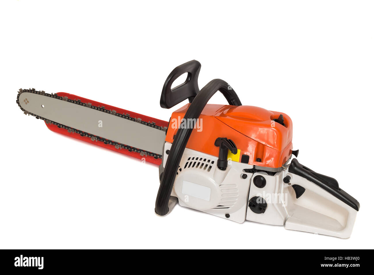 Chainsaw on a white background. Stock Photo