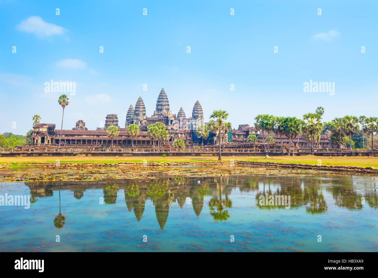 Angkor Wat Temple - Stock Image