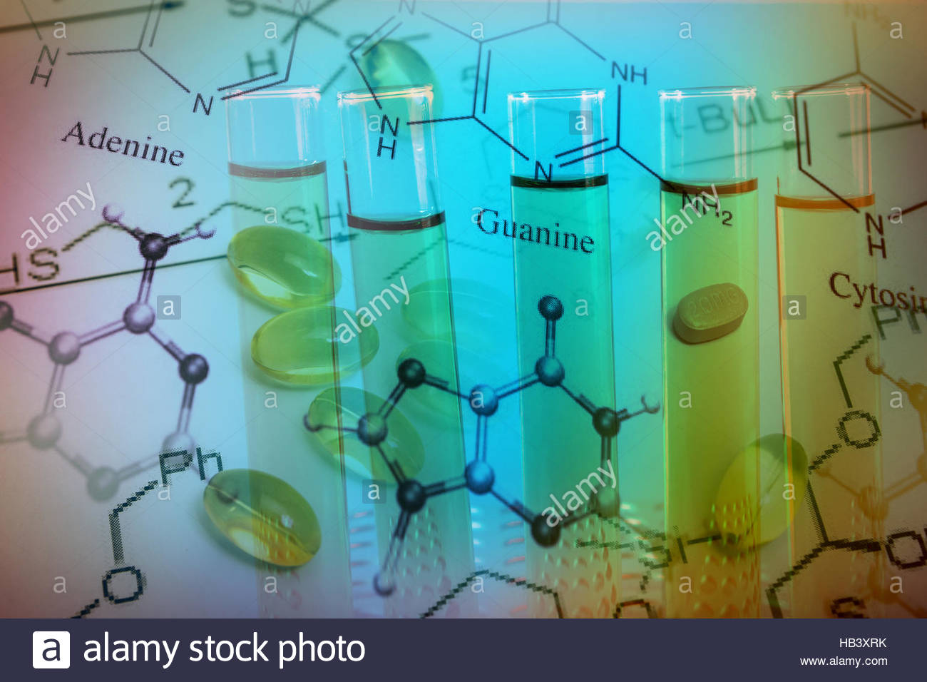 chemical formulation and medicines - Stock Image