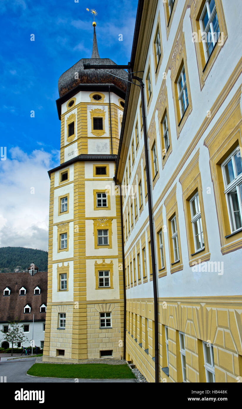 Onion tower of the Princes' Wing, Stams Abbey, Stift Stams, Tyrol, Austria Stock Photo