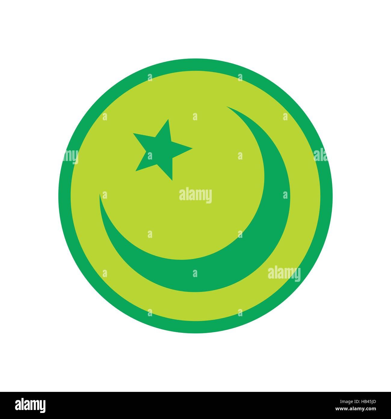 Islam Symbol Flat Icon Stock Vector Art Illustration Vector Image