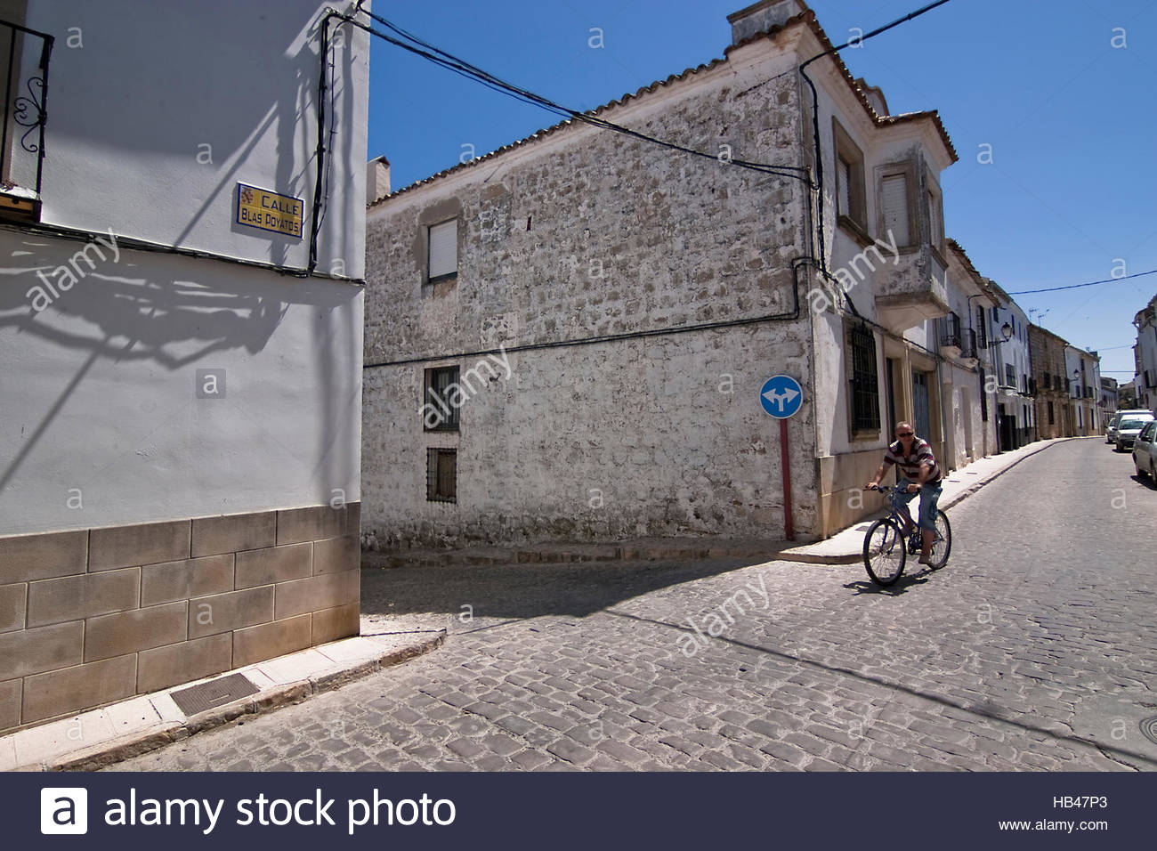 Street of Sabiote, Jaen, Spain - Stock Image