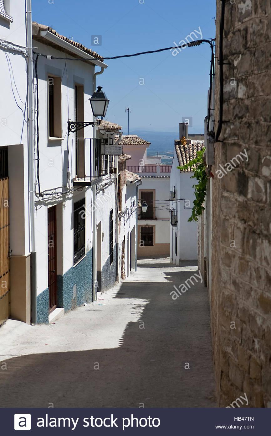 Street of Sabiote, Jaen province, Spain - Stock Image