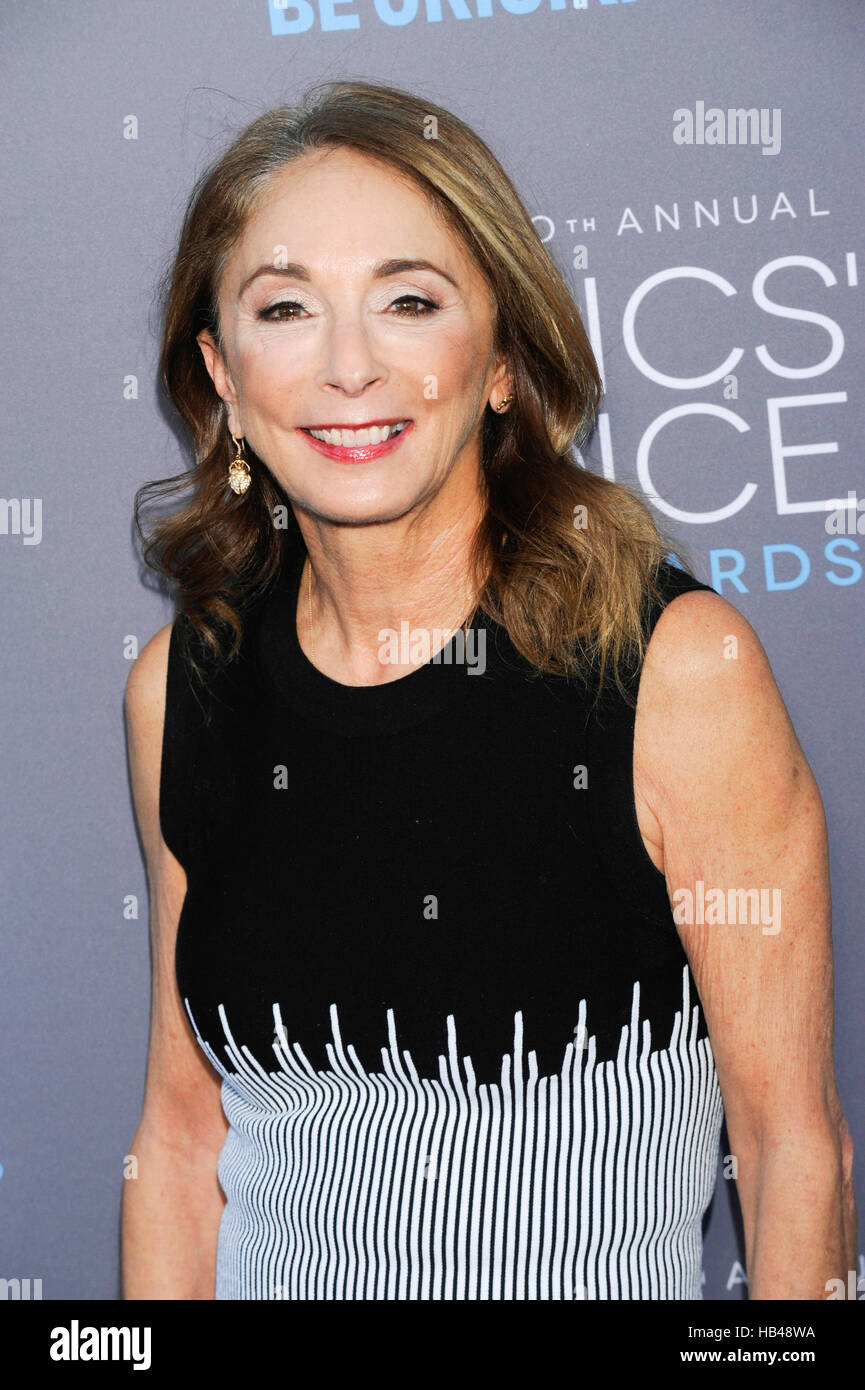 Lynda Obst, producer of 'Interstellar,' attends the 20th Critics' Choice Movie Awards at the Hollywood - Stock Image