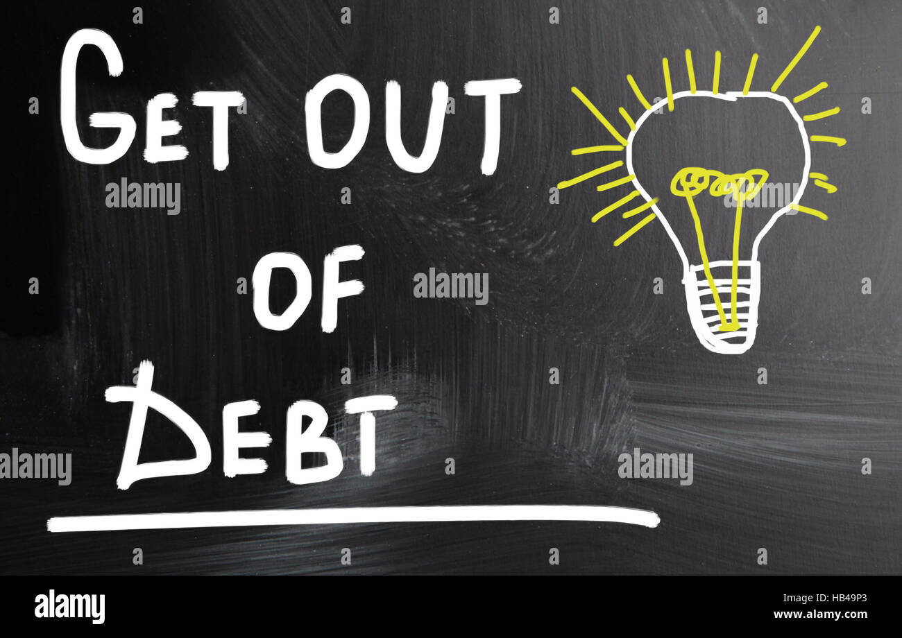 get out of debt - Stock Image