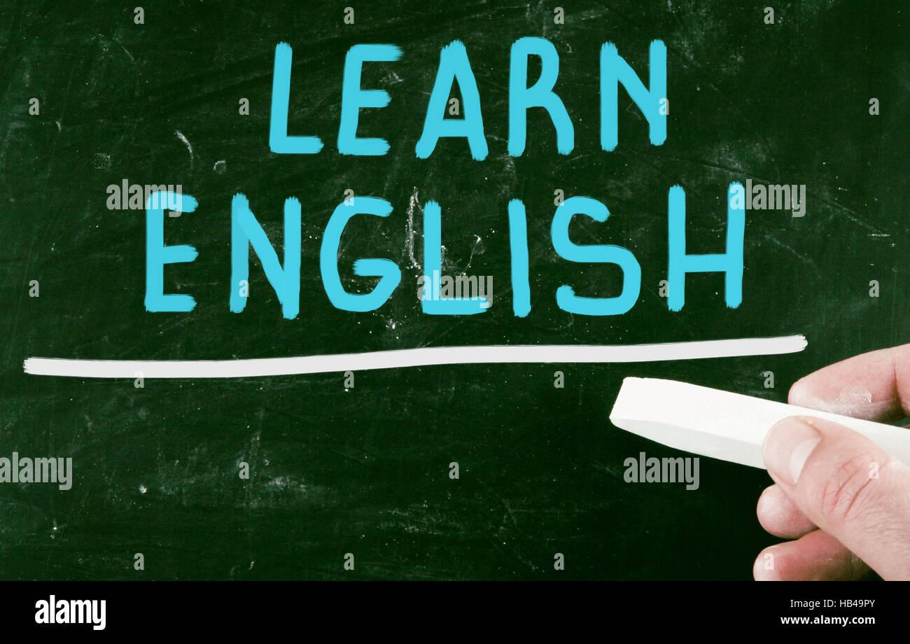 learn english - Stock Image