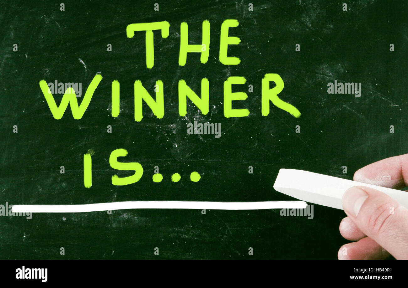 the winner is... - Stock Image