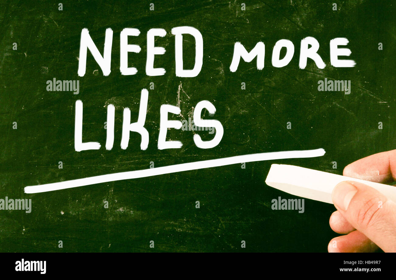 get more likes - Stock Image