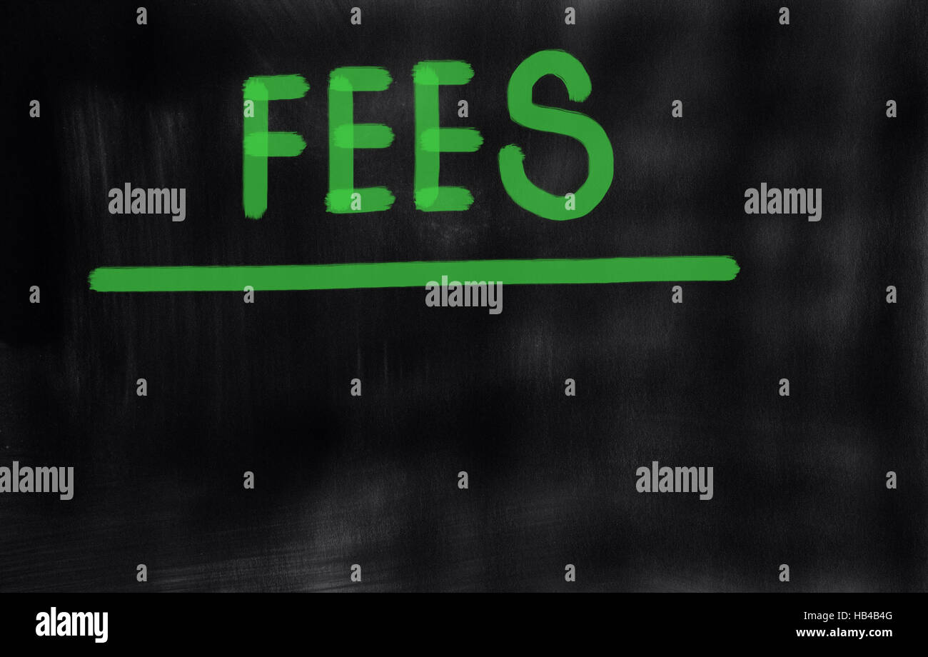 fees - Stock Image