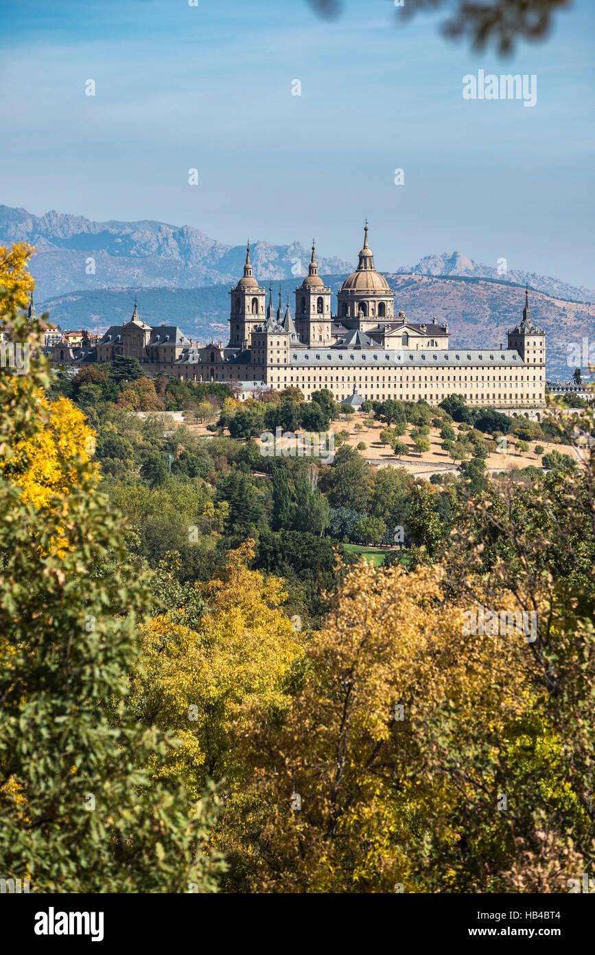 The Monastery of San Lorenzo de El Escorial, Comunidad de Madrid, Spain. Stock Photo