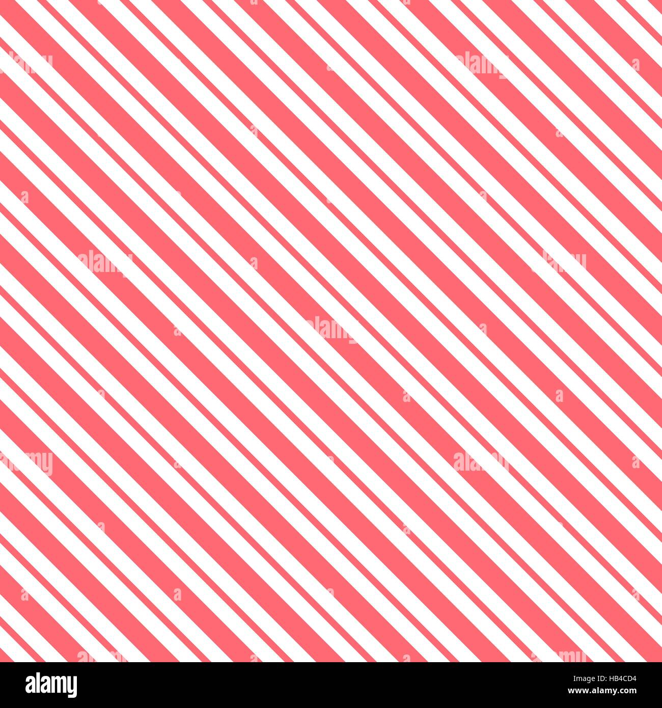 Red seamless tilted striped pattern packaging paper background in vector format - Stock Image