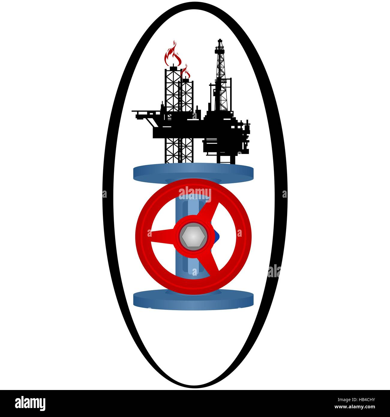 Icon gas industry. The illustration on a white background. - Stock Image