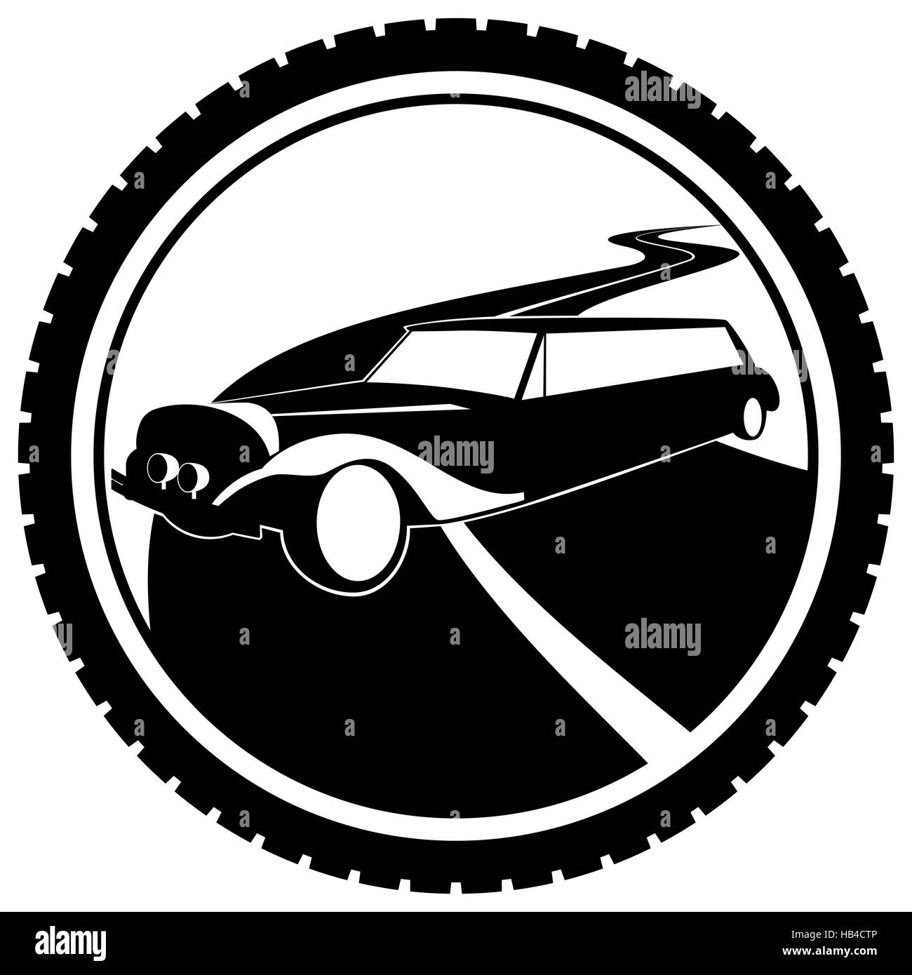 passenger car black and white stock photos images alamy Tesla Model S Convertible icon a passenger car the illustration on a white background stock image