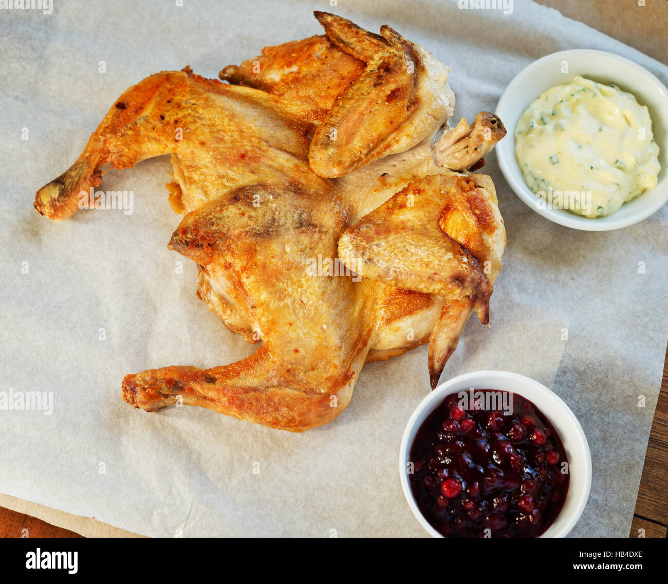 fried chicken tobacco - Stock Image
